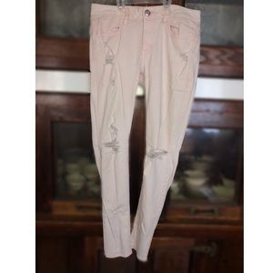 American Eagle, size 10 light pink ripped jeans